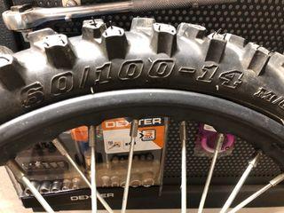 "Rueda completa pit bike 14"""