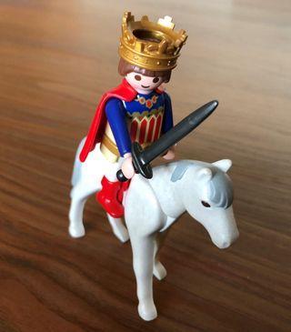 Rey a caballo playmobil