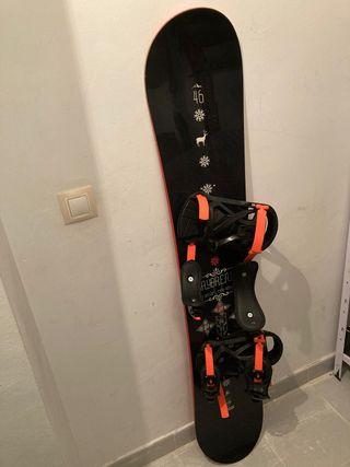 Kit: tabla , fijaciones y protecciones Snowboard