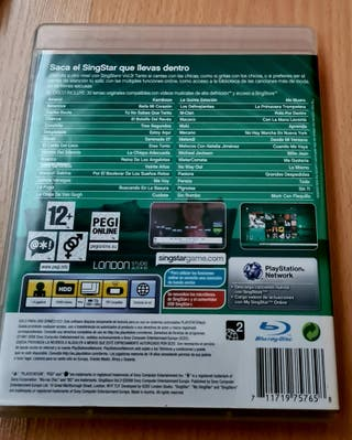 Dvd Sing Star Vol.3 PS3 y 2 micrófonos, como nuevo
