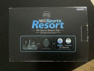 Consola Wii Sport Resort pak negra
