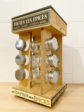 "Especiero de madera ""Le comptoir des épices"""