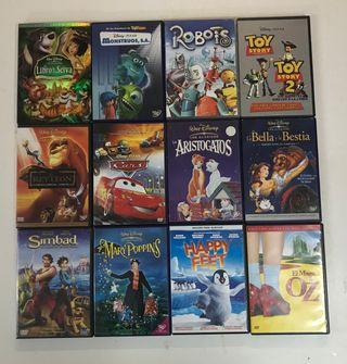 23 Peliculas infantiles,walt Dysney ,Pixar etc