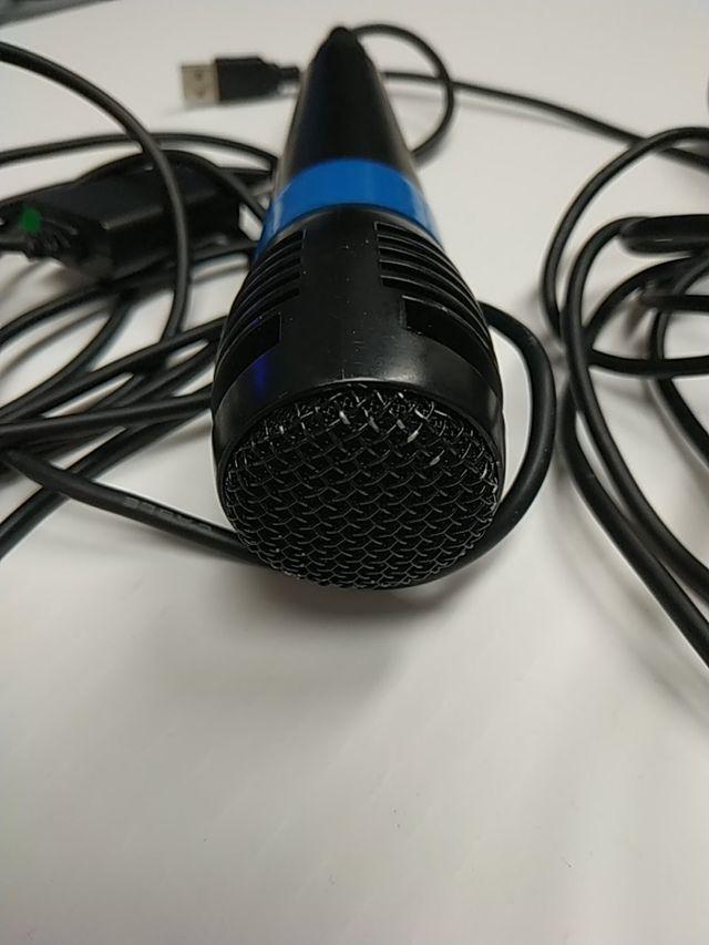 2x micrófonos USB universal para PC y karaoke