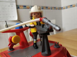 Playmobil barco bomberos rescate