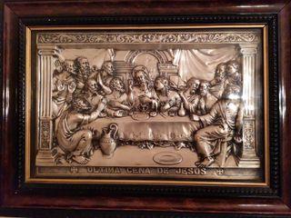 Cuadro de Santa Cena en plata