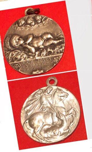 2 Medallas religiosas antiguas x 5€