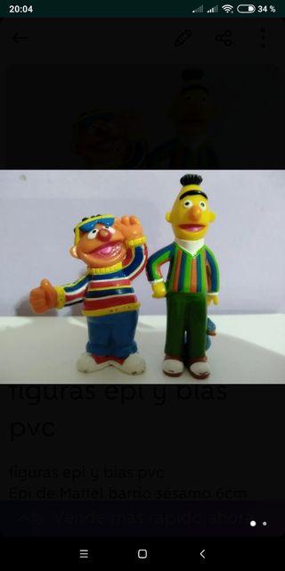 figuras epi y blas pvc Epi de Mattel barrio sésamo