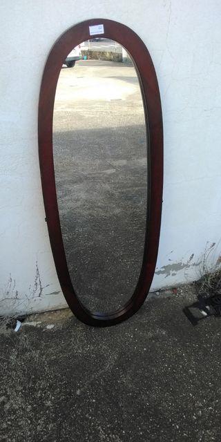 Espejo ovalado marco madera