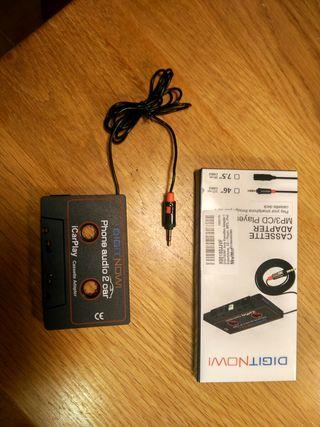 Adaptador cassette mini jack
