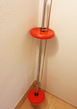 BARRA PRESS SALTER CON DISCOS (TOTAL PESO 28 kg.)