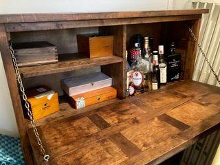 Mueble Bar Vintage de Madera Maciza