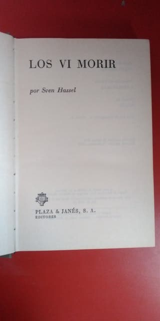 Libro los vi morir. Sven Hassel