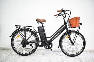 Myatu Walk Negra Bici Eléctrica Paseo 36V 8Ah 250W