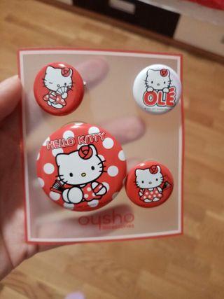 4 Chapas de Hello Kitty flamenca