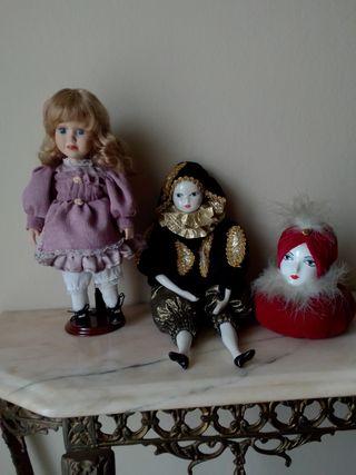 Pack muñecas porcelana