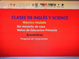 Clases inglés y science online