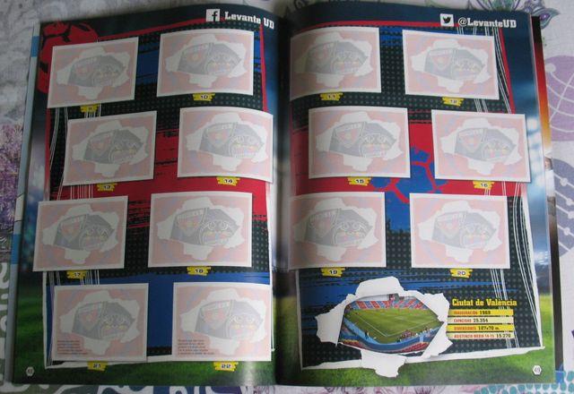 album vacio ediciones este liga futbol 2015-16
