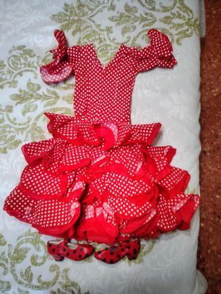 traje niña de flamenca/ sevillana