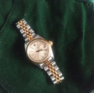 Rolex Oyster Perpetual Date de mujer oro y acero