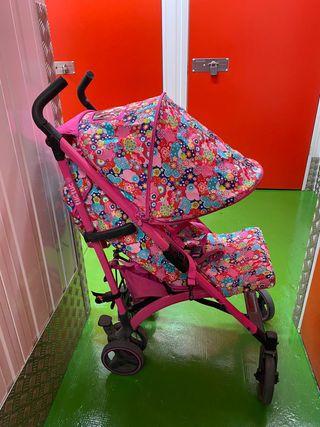 Carro tijera paseo tuctuc tuc-Tuc rosa