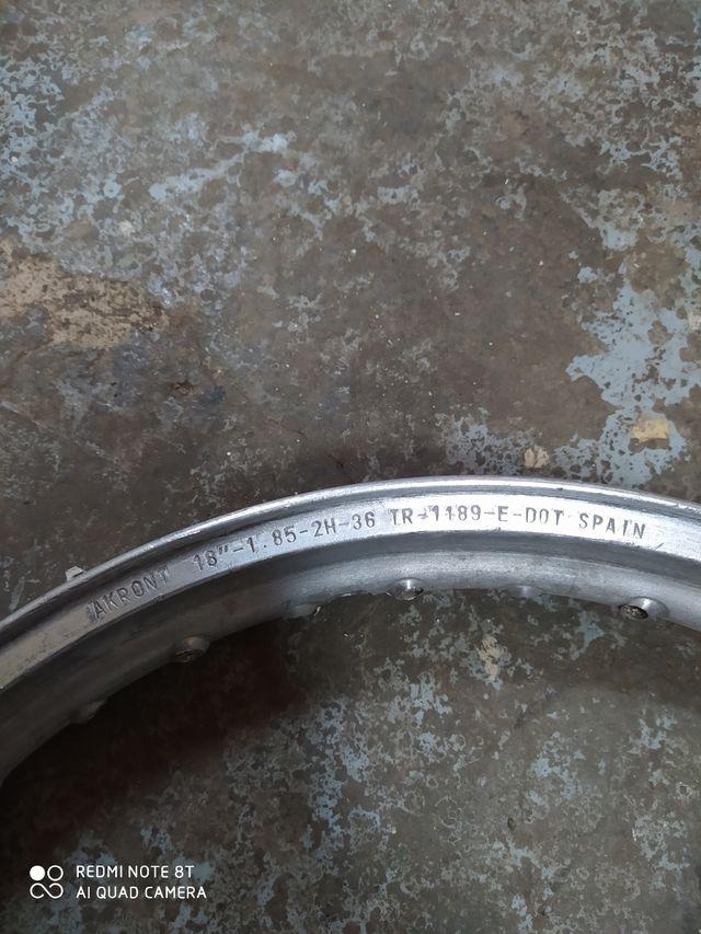 llanta akront aluminio