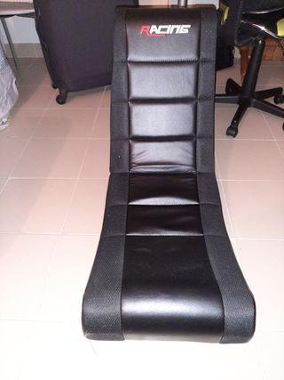 sillón suelo gamer negro