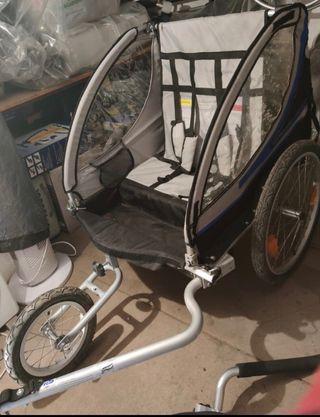 Qeridoo carro doble bicicleta o correr con niños