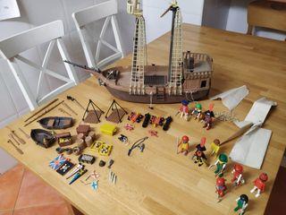 Playmobil barco pirata antiguo Famobil click