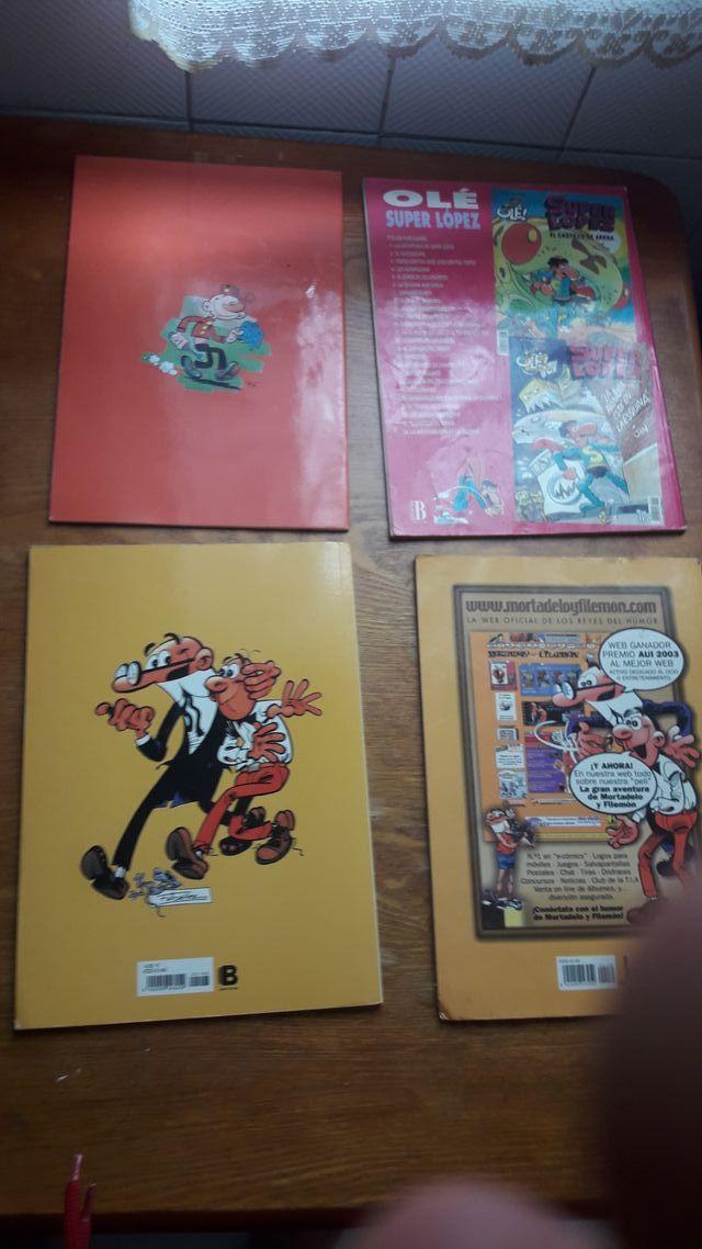 TOMO HUMOR Y 4 COMICS SUPERLOPEZ,SACARINO,ETC