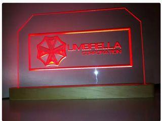 Cartel luminoso Umbrella Corporation