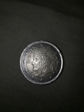 Moneda 2002 Italia Indio