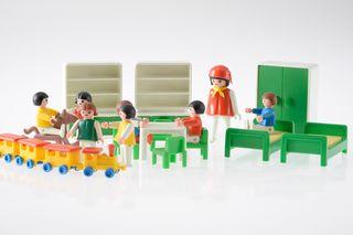 Playmobil ref. 3417 v1 habitación niños 1982