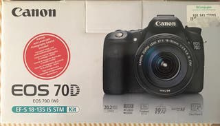 Cámara Canon EOS 70D + 2 OBJETIVOS CANON