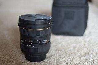 Objetivo Sigma 10-20/4,0-5,6 DC/EX/HSM para Nikon