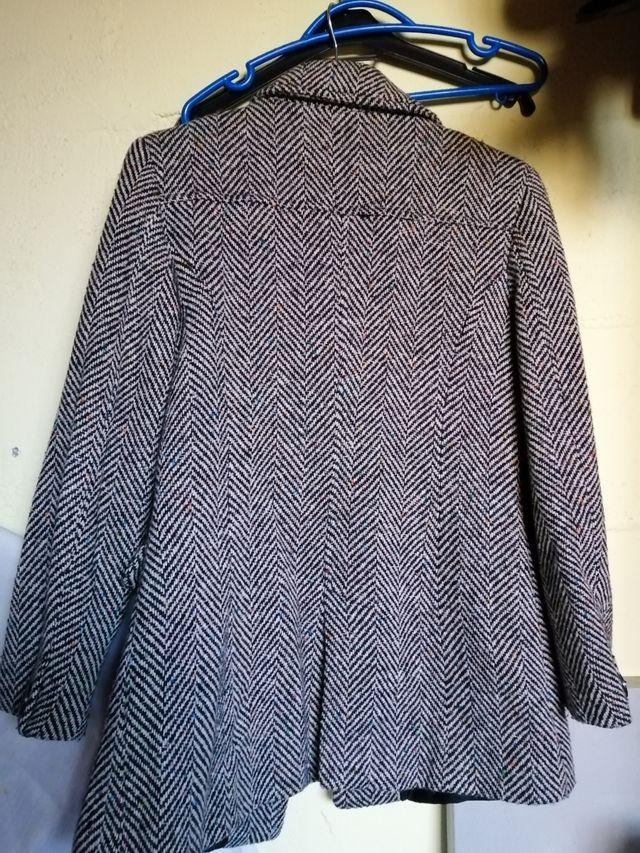 chaquetón de lujo lana pura t 40 señora