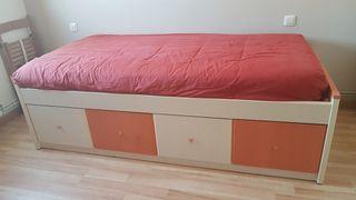 mueble de cama juvenil (90) cama nido