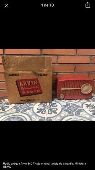Radio antigua arvin 840T no probada