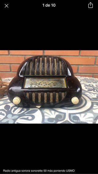 Radio antigua Sonora sonorette 50 no probada