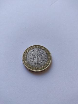 Moneda 1€ *1999* Francia árbol