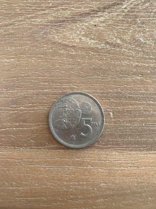 Moneda de 5 pesetas año 1980