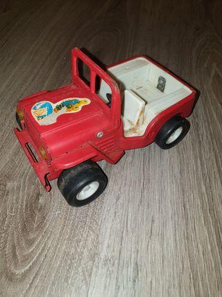 coche de chapa. jeep 4×4 juguete antiguo