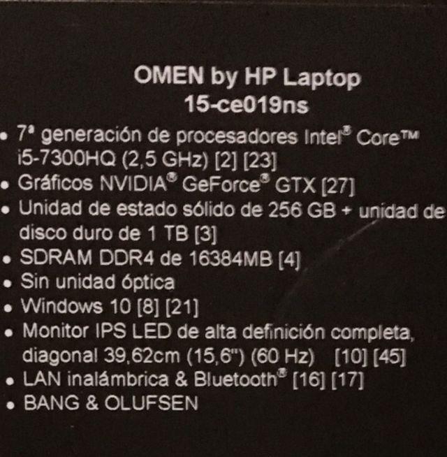 Portátil gaming HP Omen
