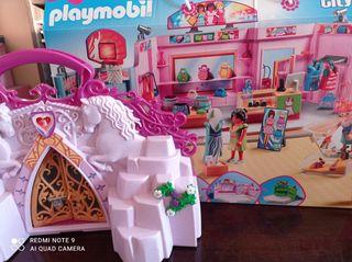 centro comercial y castillo unicornio Playmobil