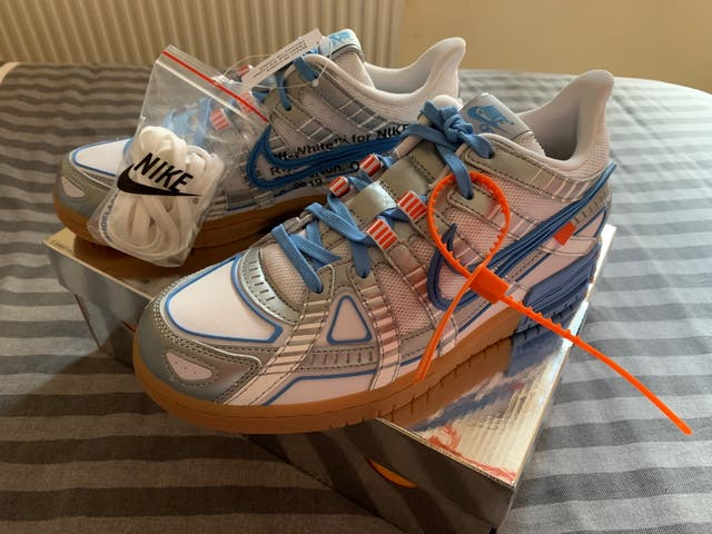 Nike Air Rubber Dunk Off-White UNC 8UK