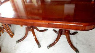 Mesa sillas comedor madera maciza