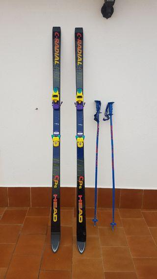 Skis + palos + funda