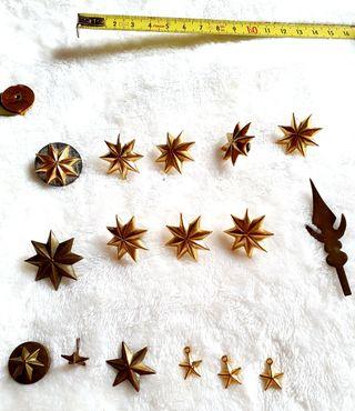 Estrellas insignias militares antiguas