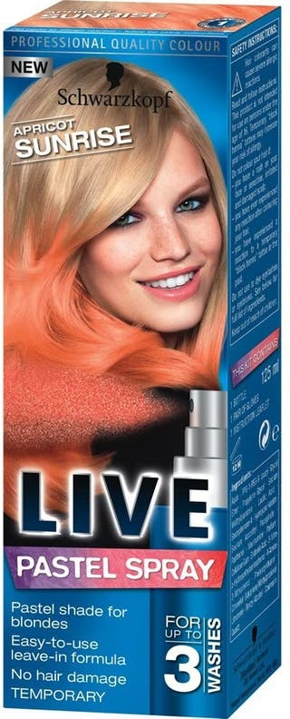 Schwarzkopf Apricot Sunrise Live pastel spray