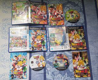 Trilogia Dragon Ball Budokai Tenkaichi. PS2.
